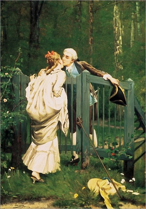 the kiss-Auguste Serrure