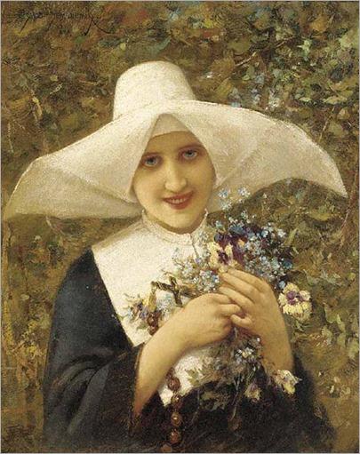 The nun-Emile Eisman-Semenowsky - circa 1900