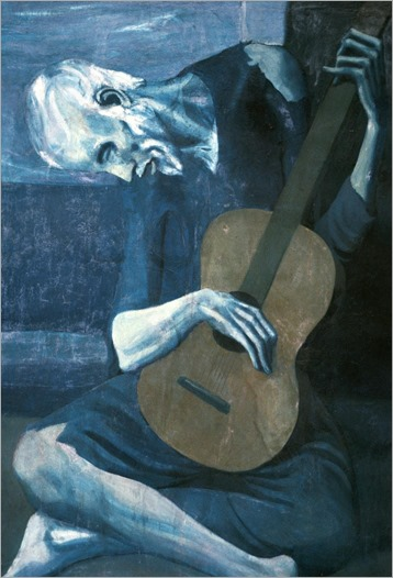 The Old Guitarist 1903-Pablo Picasso