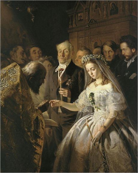 The Unequal Marriage (1862). Vasily Vladimirovich Pukirev (Russian, 1832–1890)