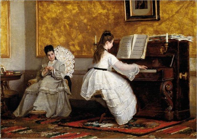Vito d´Ancona (italian painter)-lezione di pianoforte
