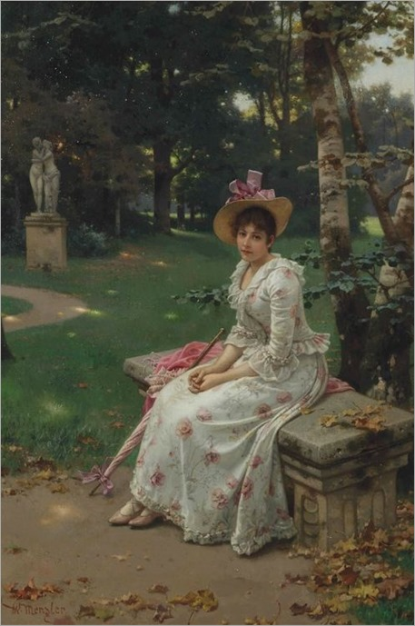 Wilhelm Menzler (german-1846-1926) - Garden remembrances