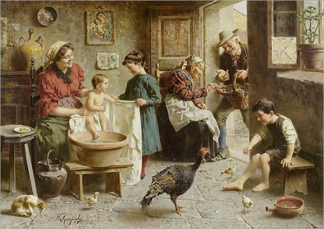 ZAMPIGHI, EUGENIO(Modena 1859 - 1944 Maranello)Family bliss