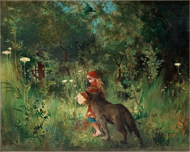 749px-Carl_Larsson_-_Little_Red_Riding_Hood_1881