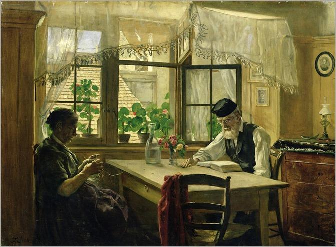 A Peaceful Sunday -1876-Hans Thoma (german painter)