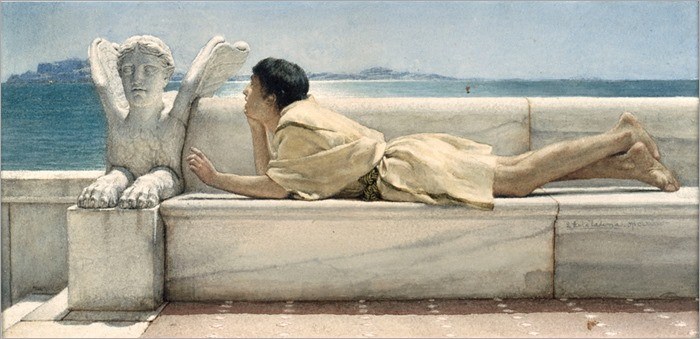 Alma_Tadema (1836-1912)_The_Silent_Counselor-1878-watercolor