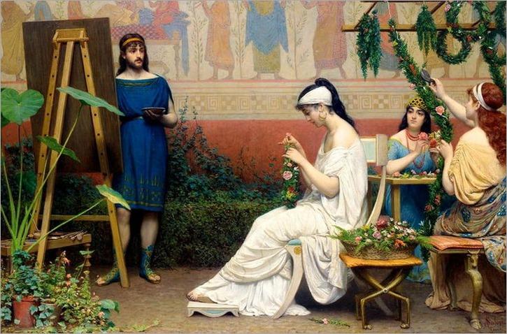 Anatolio Scifoni (Italian, 1841-1884) - THE ARTIST'S STUDIO