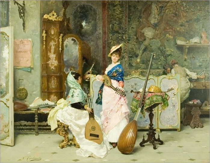 Capobianchi, Vincenzo (active 1860-1890) - The Music Shop