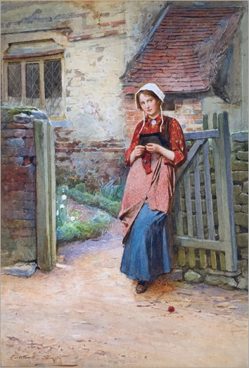 Carlton Alfred Smith (English, 1853-1946) At the Garden Gate