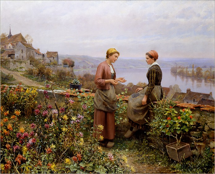 confidence-Daniel Ridgway Knight -c.1899