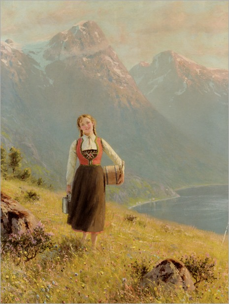 Dahl_Hans_Young_Girl_by_a_Fjord