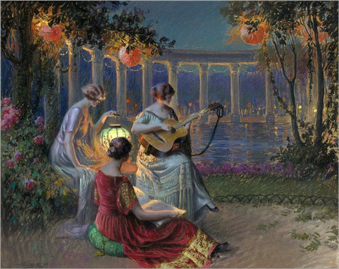 Delphin Enjolras (francês, 1857-1945)-SOIR DE FÊTE