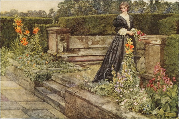 Eleanor Fortescue-Brickdale _Garden Fancies The Flower`s Name - 1909 watercolor