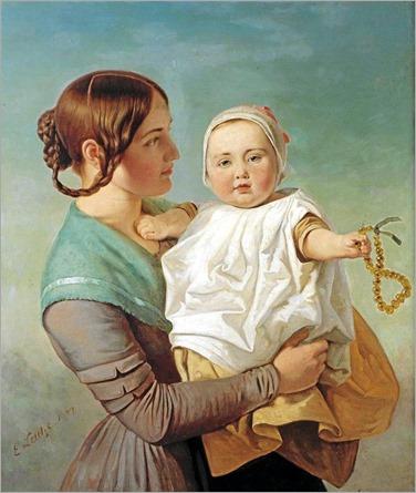 Emanuel Gottlieb Leutze_the amber necklace
