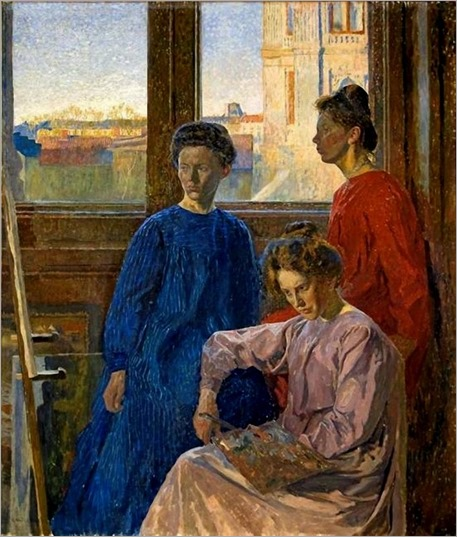 Female Painters (1902). Carl Wilhelm Wilhelmson (Swedish, 1866-1928)