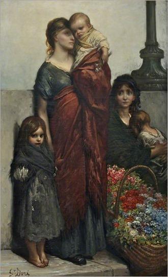 flower sellers 1875_Gustave Doré
