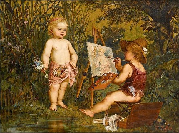 FRANZ LEFFLER (czech 1831-1898)-AN ALLEGORY OF THE ARTS