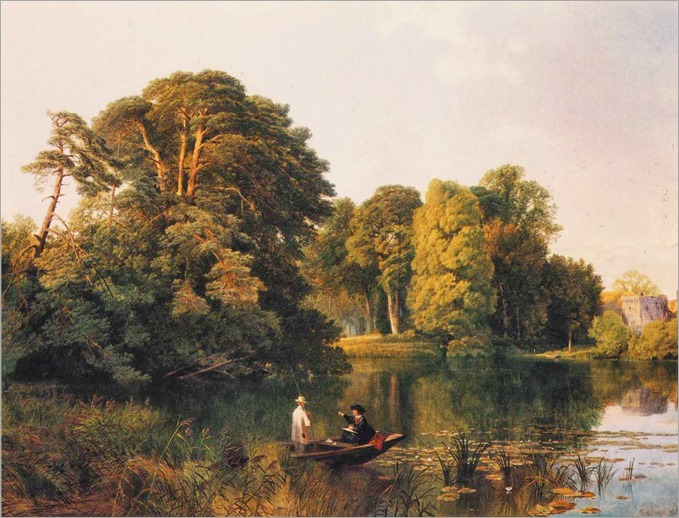 Frederick William Hulme (british, 1816-1884)- A Quiet Retreat, Surrey