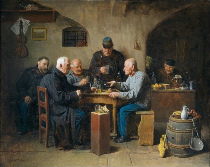 Friedrich Friedlander von Mahlheim (Uhlírˇské Janovice 1825–1901 Vienna) Sociable Gathering_967x768