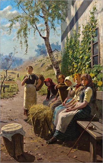 Hans Dahl (1849–1937) En pause i slatten