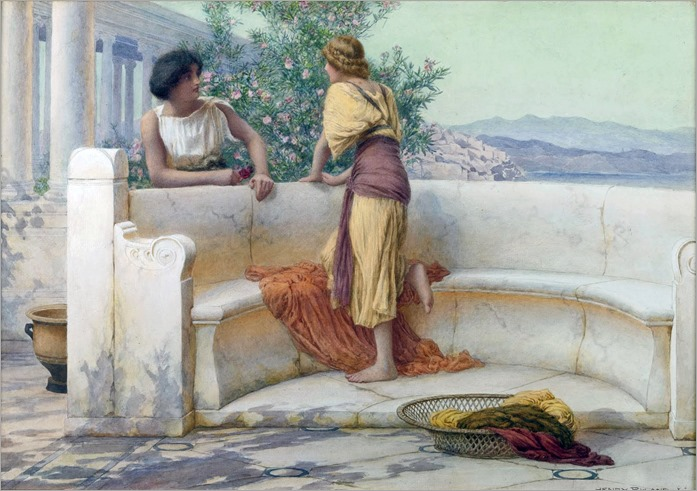Henry Ryland (1856-1924)- The Love Story