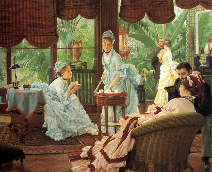 In the Conservatory - James Tissot