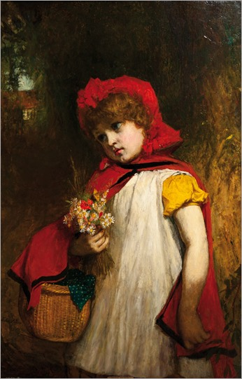 John Burr (1834–1893)_Mädchen_mit_rotem_Umhang_1871