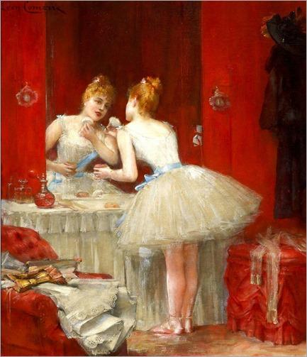 La Loge de la Ballerine. Leon Francois Comerre (French, Academic, 1850-1934)