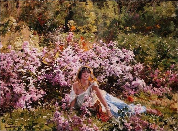 Leon_Louis_Tanzi_Algerian_beauty_in_a_lilac_field