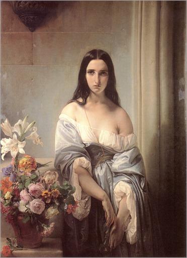 melancolia-Francesco Paolo Hayez (italiano, 1791-1881)