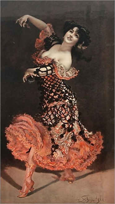 the flamenco dancer-Leopold Schmutzler - Date unknown