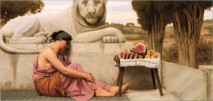 The Fruit Vendor - John William Godward