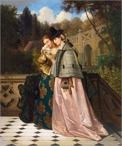 The Letter - Florent Willems (belgian painter-19th century)