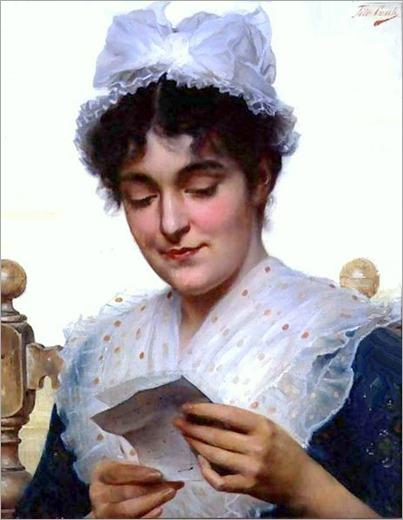 The Letter. Tito Conti (Italian, 1842-1924)