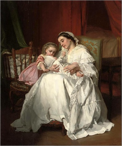 the-new-arrival _ Jules Trayer (1824-1909)