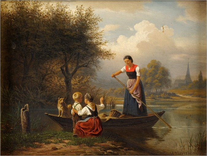 The return_Hermann Meyerheim (German, 1815-1880)