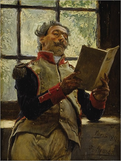 the soldier reading-Jose Jimenez y Aranda (spanish painter) - 1890