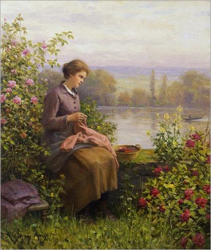 The Village Seamstress - c.1916 - Daniel R Knight
