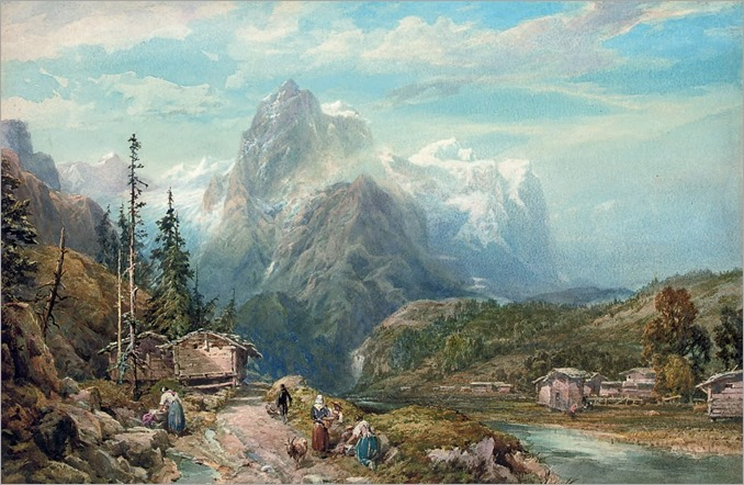 Thomas Miles Richardson Jr. - The Wellhorn from Rosenlaui, Switzerland