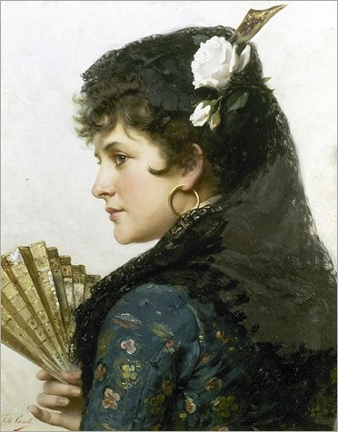 Tito Conti, Italian (1842-1924). A Spanish Beauty