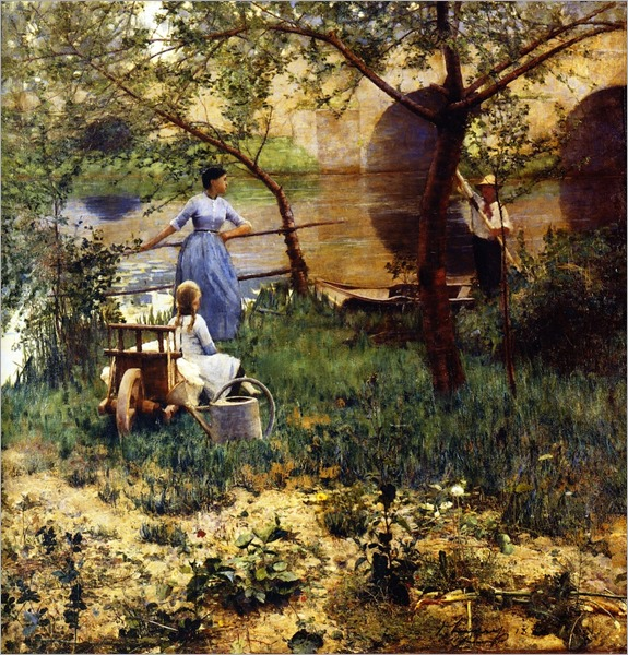 Under the Cherry Tree - John Lavery-1884