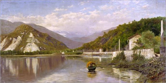 Veduta del Lago Maggiore, 1884-FRANCESCO GNECCHI