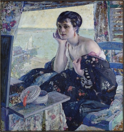 woman by a window-Richard Edward Miller