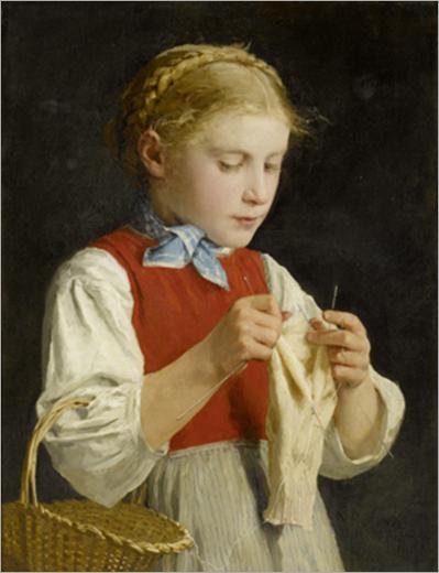 Young_Girl_Knitting_-_Albert_Anker