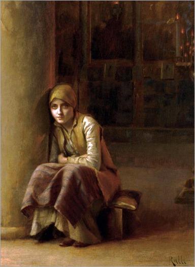 a pensive moment-Theodoros Ralli