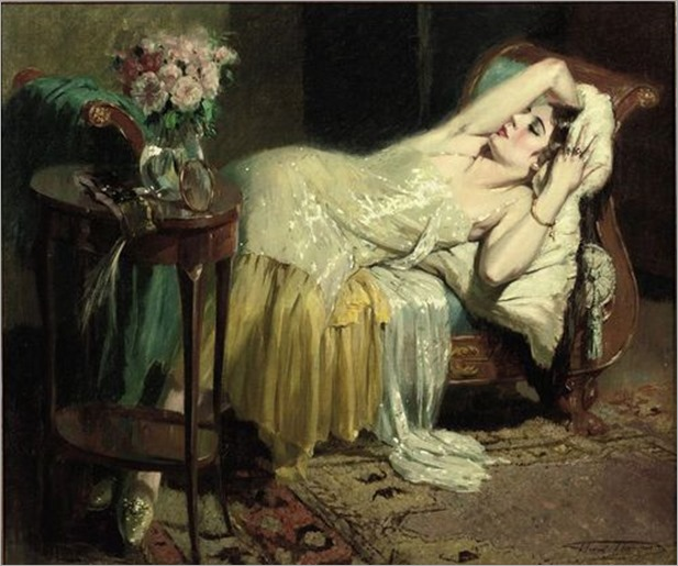 After a night out, Henri Joseph Thomas. (1878 - 1972)