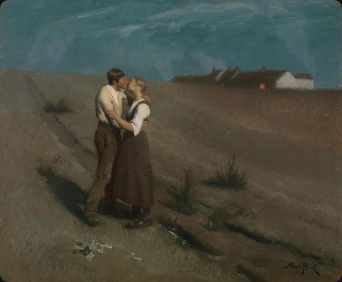 Aimé Perret (Lyon, 1847-1927)-the kiss
