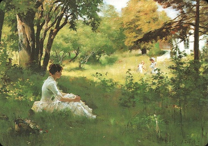Albert Edelfelt (Finnish artist, 1854-1905) Summer 1883