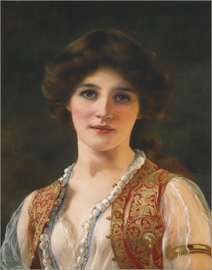 AN EASTERN BEAUTY-William-Clarke-Wontner-1857-1930