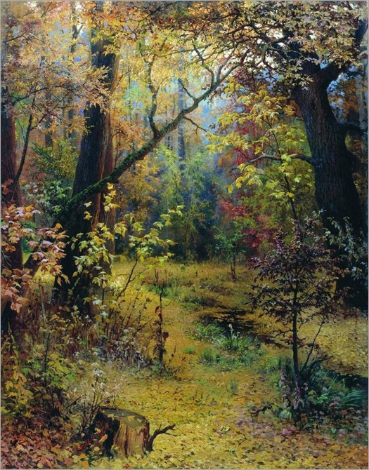 Autumn Morning -1893- Grigoriy Myasoyedov (russian painter)